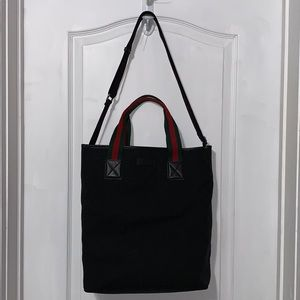 GUCCI authentic GG black fabric tote 👜